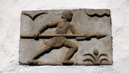 Relief in der Westwand